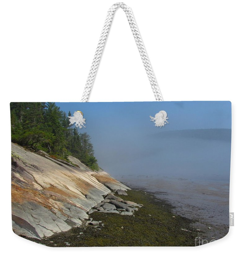 Baie-des-rochers Weekender Tote Bag featuring the photograph Baie-des-rochers, Quebec by Donica Abbinett
