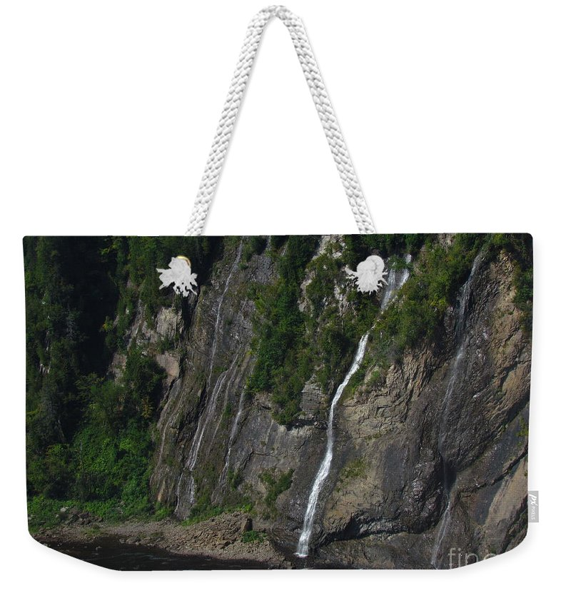 Quebec Weekender Tote Bag featuring the photograph Little Falls Of Montmorency by Donica Abbinett