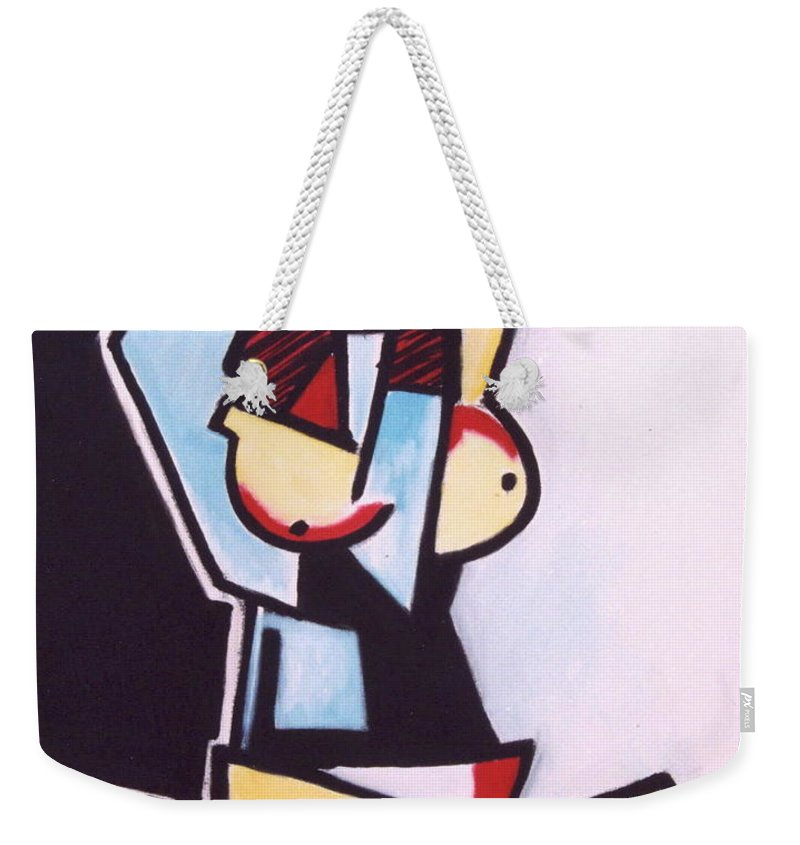Picasso Weekender Tote Bag featuring the painting Picasso by Thomas Valentine