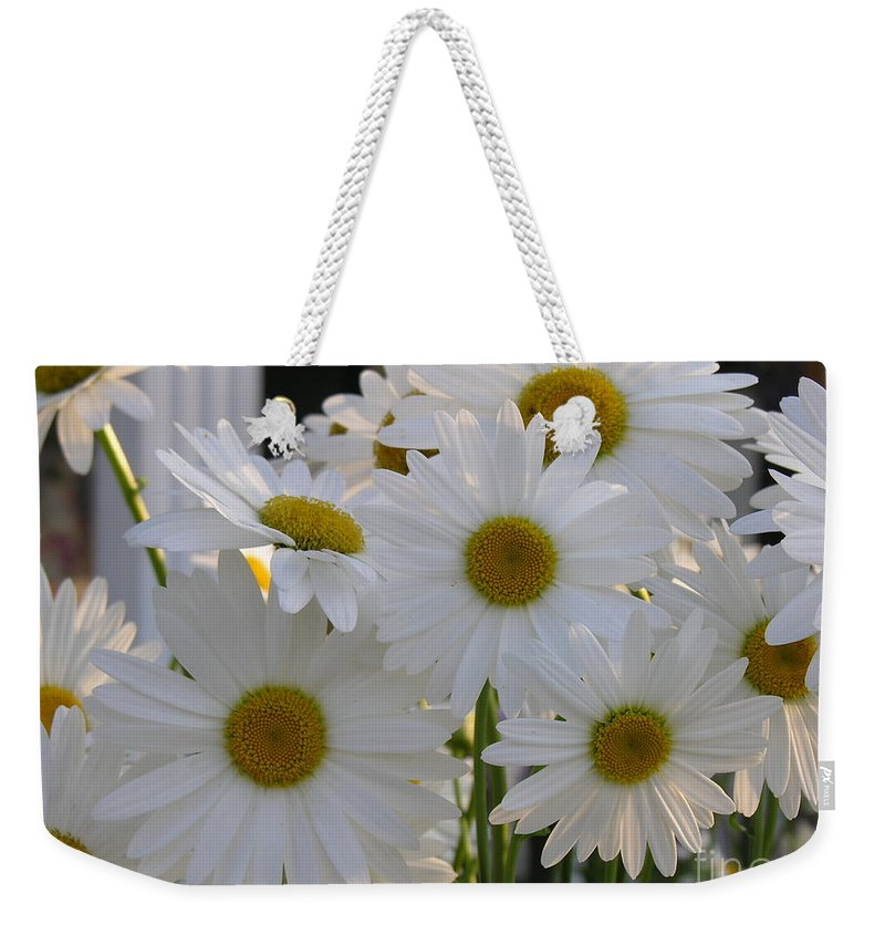 Dasiy Weekender Tote Bag featuring the photograph Pick Me by Diane Greco-Lesser