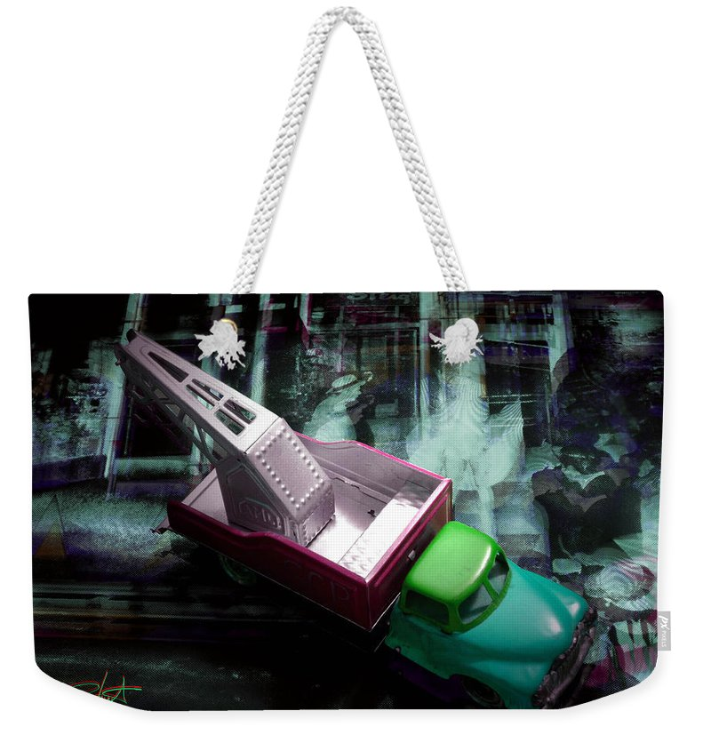 Marilyn Weekender Tote Bag featuring the photograph Pick Up On Marilyn by Charles Stuart