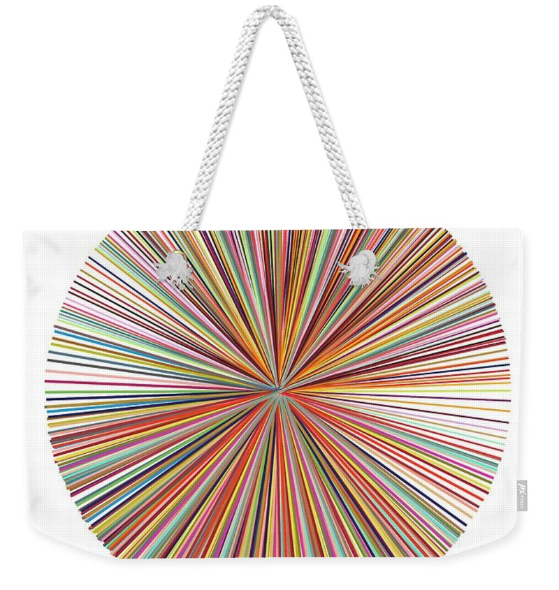 Rainbow Art Weekender Tote Bag featuring the digital art Pick-up-stix by Sandi Hauanio