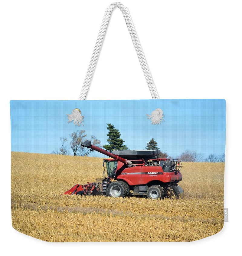 Harvest Weekender Tote Bag featuring the photograph Picking Corn by Bonfire Photography