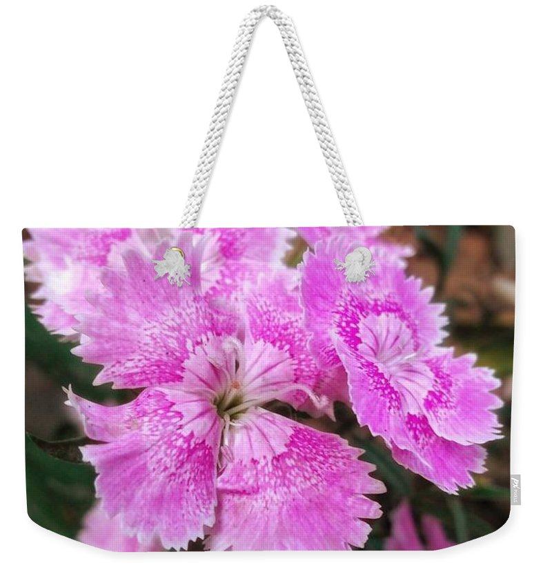 Pick Flower Weekender Tote Bag featuring the digital art Picky Pick by Rahul Ranjan