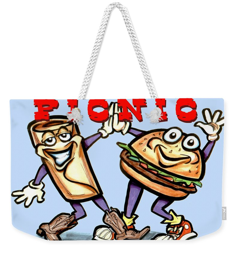 Picnic Weekender Tote Bag featuring the greeting card Picnic by Kevin Middleton