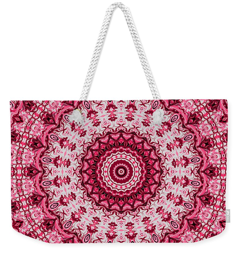 Digital Weekender Tote Bag featuring the digital art Picnic Tablecoth by Joy McKenzie