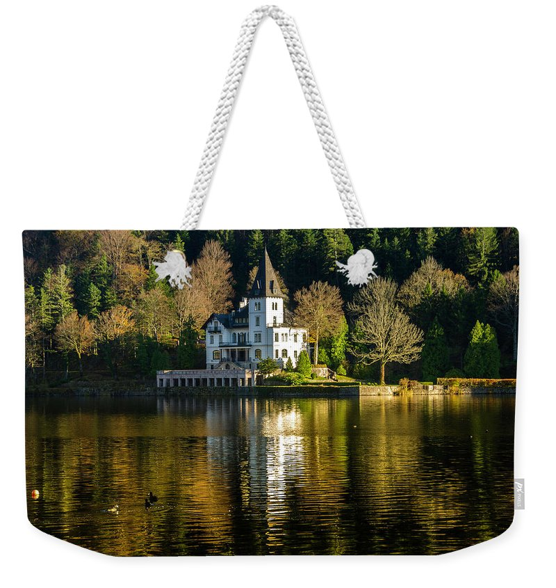 Grundlsee Weekender Tote Bag featuring the photograph Picturesque Grundlsee by Wolfgang Stocker