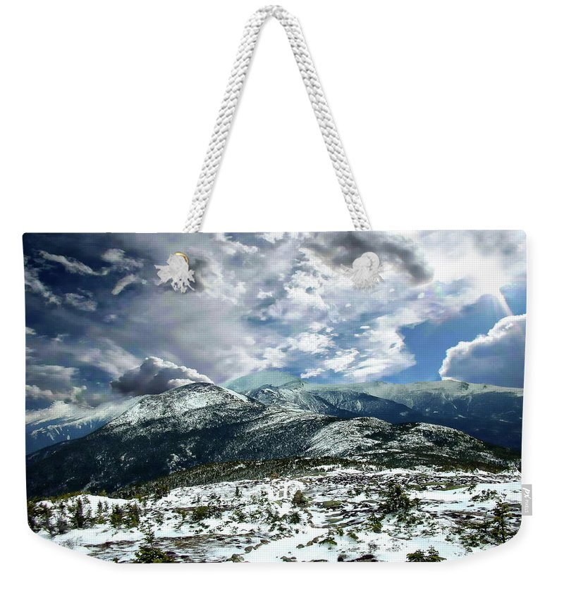 Mount Weekender Tote Bag featuring the photograph Picturesque Mountain Landscape by Anthony Dezenzio