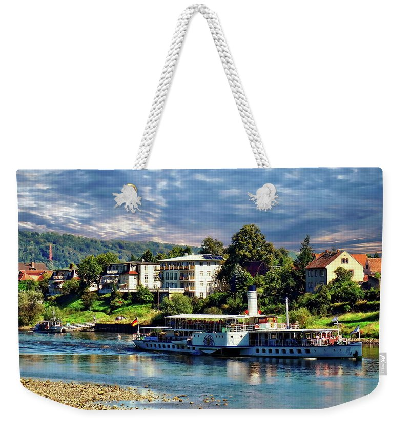 Leipzig Weekender Tote Bag featuring the photograph Picturesque River Cruise by Anthony Dezenzio