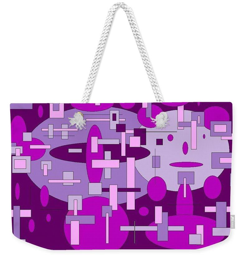 Digital Artwork Weekender Tote Bag featuring the digital art Piddly by Jordana Sands