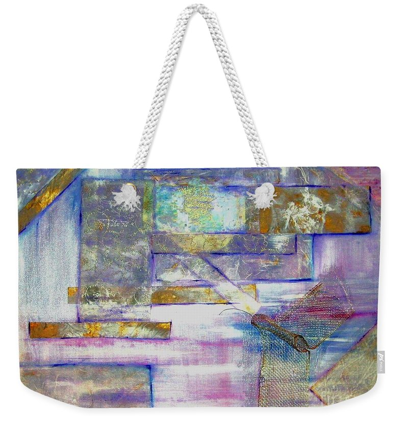 Collage Weekender Tote Bag featuring the painting Pieces Of April by Sandy Ryan