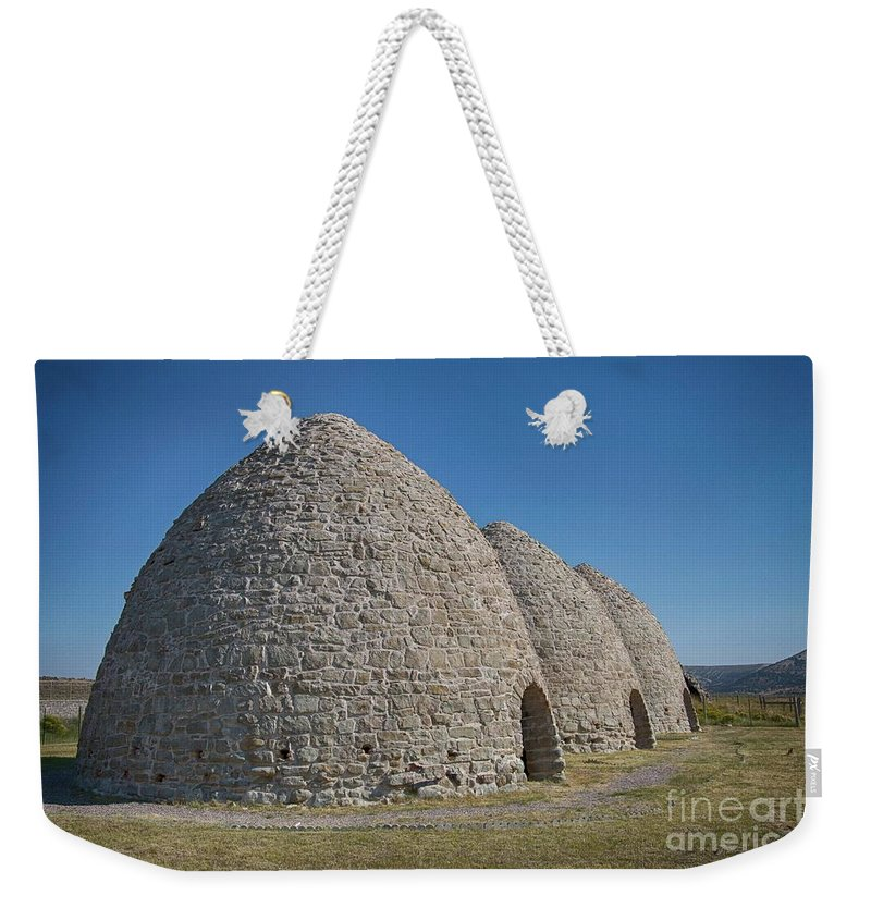 Kiln Weekender Tote Bag featuring the photograph Piedmont Kilns by Carolyn Fox