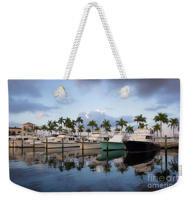 Manatee County Weekender Tote Bag featuring the photograph Pier 22 by Liesl Walsh