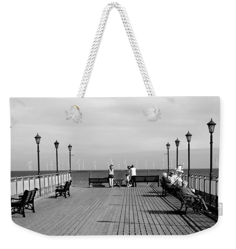Skegness Weekender Tote Bag featuring the photograph Pier End View At Skegness by Rod Johnson