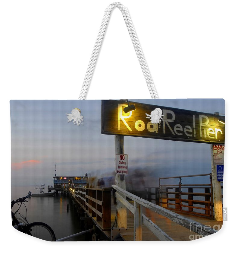 Fishing Pier Weekender Tote Bag featuring the photograph Pier Group by David Lee Thompson