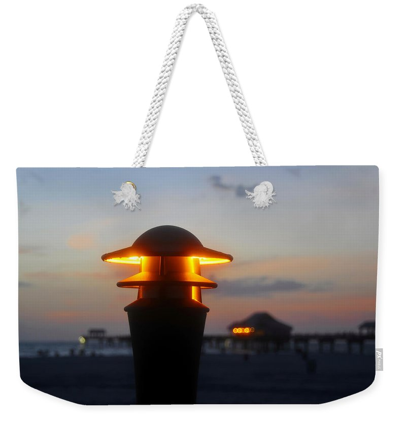 Pier Weekender Tote Bag featuring the photograph Pier Lights by David Lee Thompson