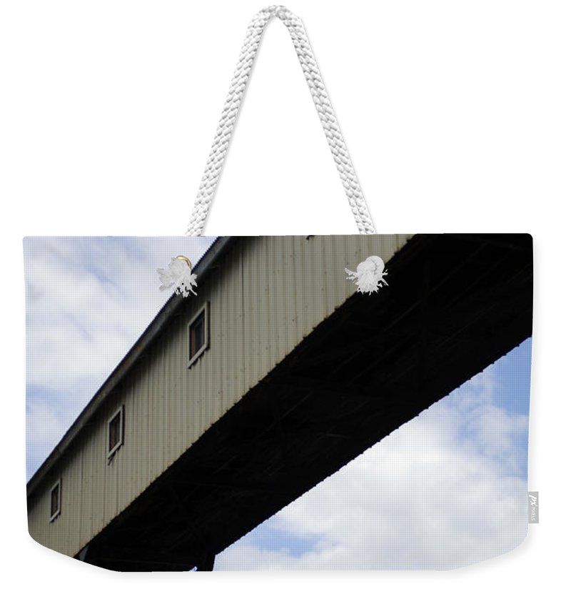 Urban Weekender Tote Bag featuring the photograph Pier Passage by Jill Reger