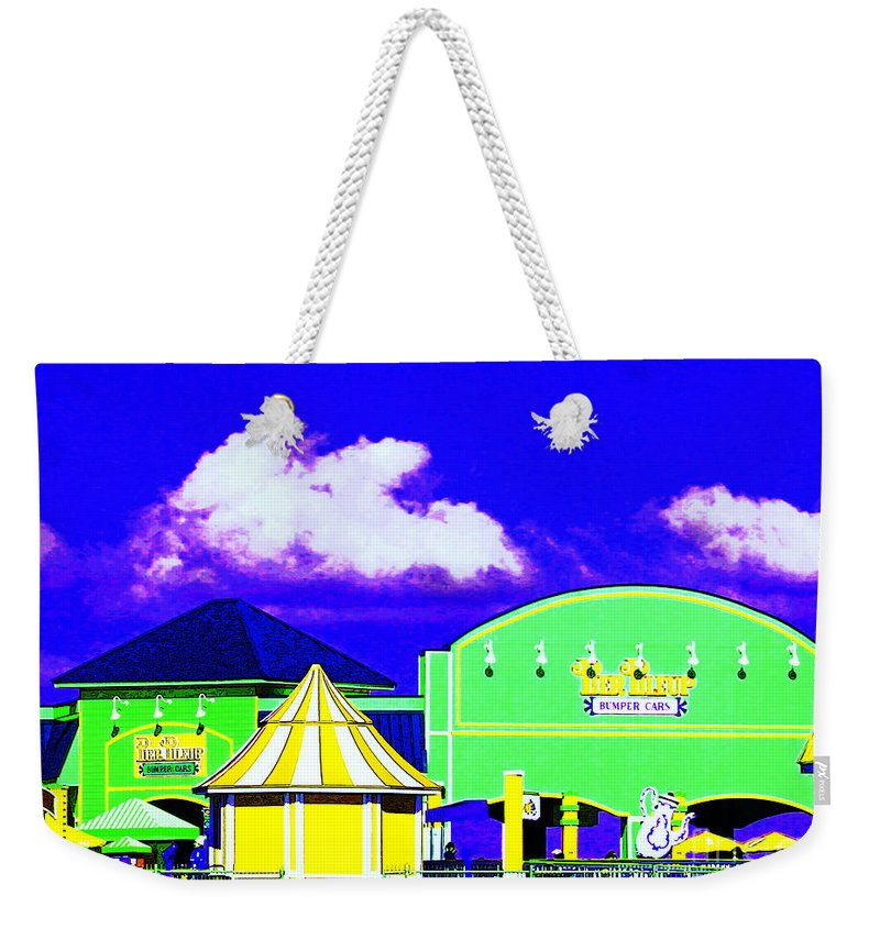 Pier Weekender Tote Bag featuring the photograph Pier Pileup by Steve C Heckman