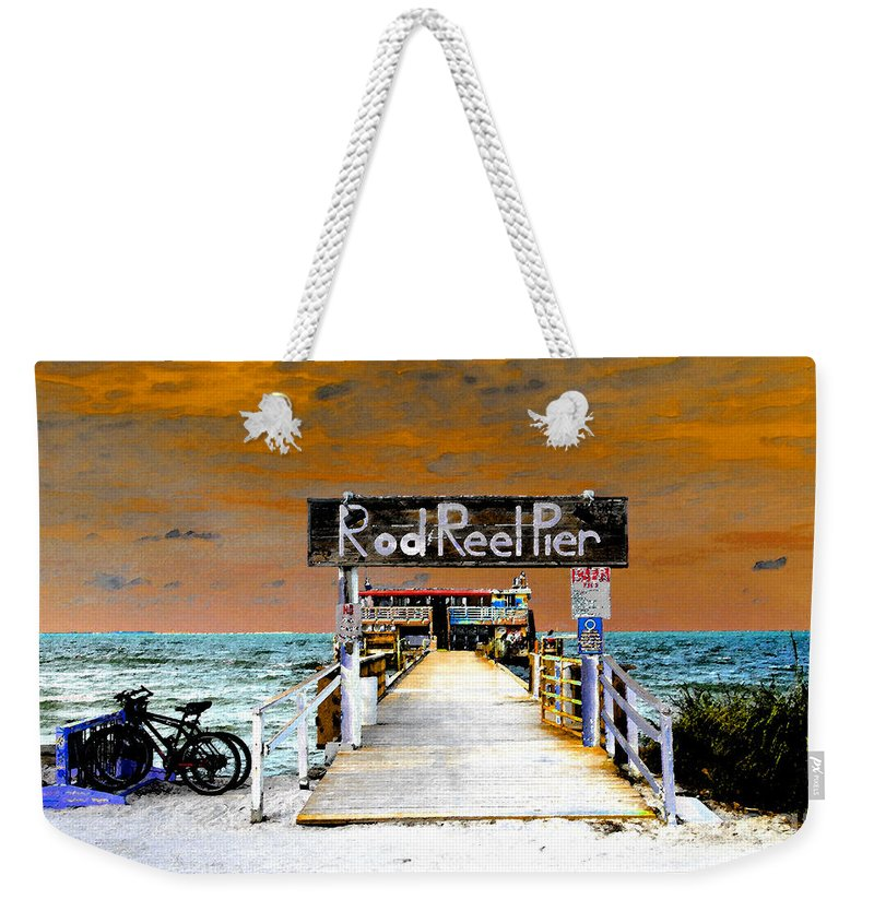 Art Weekender Tote Bag featuring the painting Pier Scape by David Lee Thompson