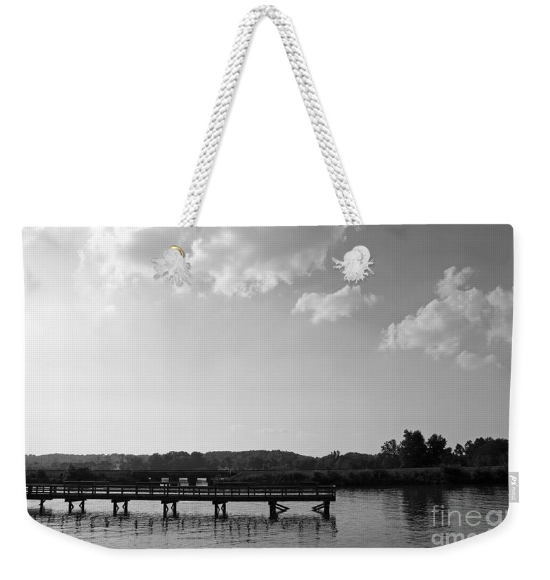 Landscape Weekender Tote Bag featuring the photograph Pier by Todd Blanchard