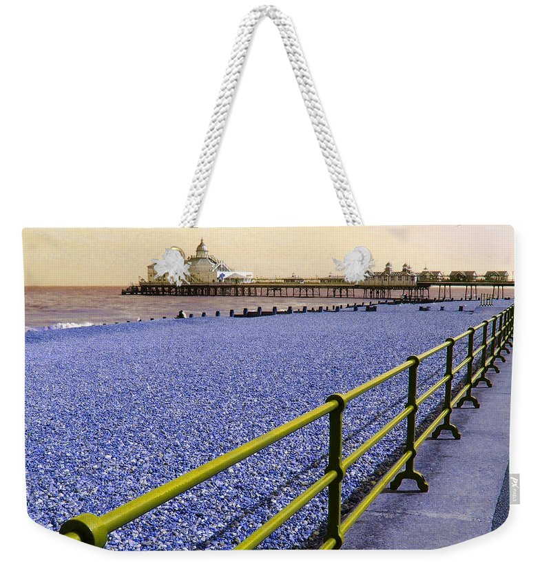 Pier Weekender Tote Bag featuring the photograph Pier View England by Heather Lennox