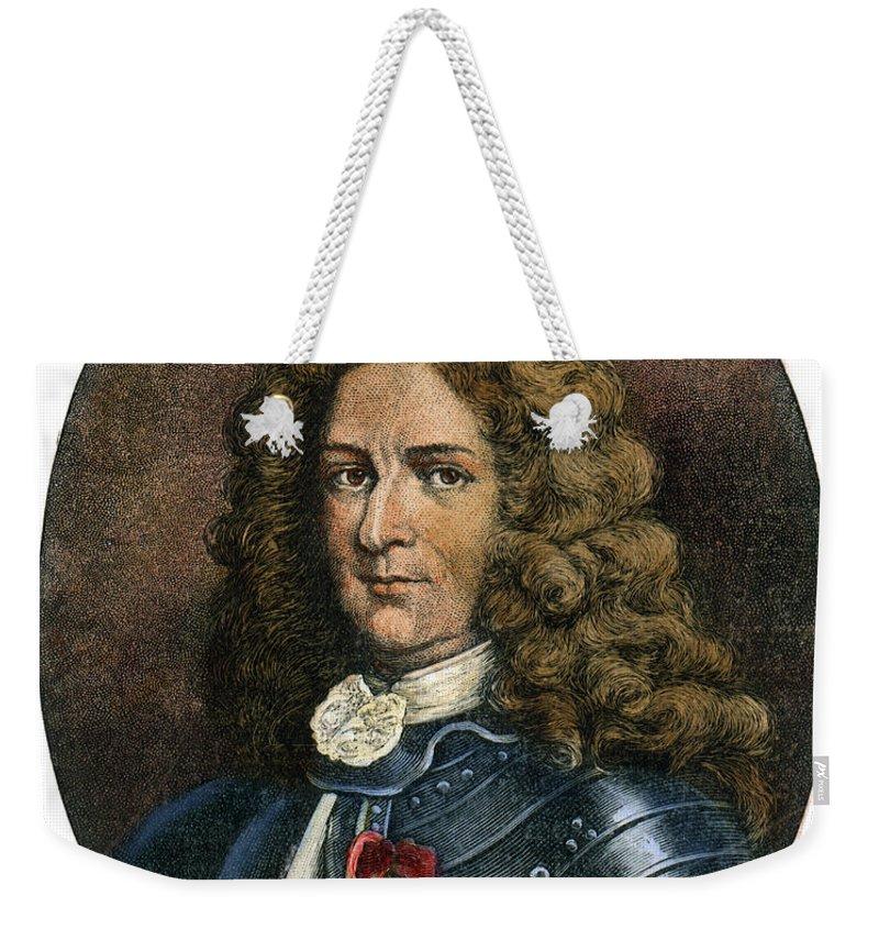 Colonist Weekender Tote Bag featuring the drawing Pierre Lemoyne, 1661-1706 by Granger