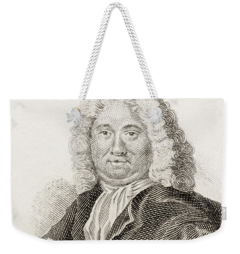 Burman Weekender Tote Bag featuring the drawing Pieter Burman The Elder, 1668 To 1741 by Vintage Design Pics