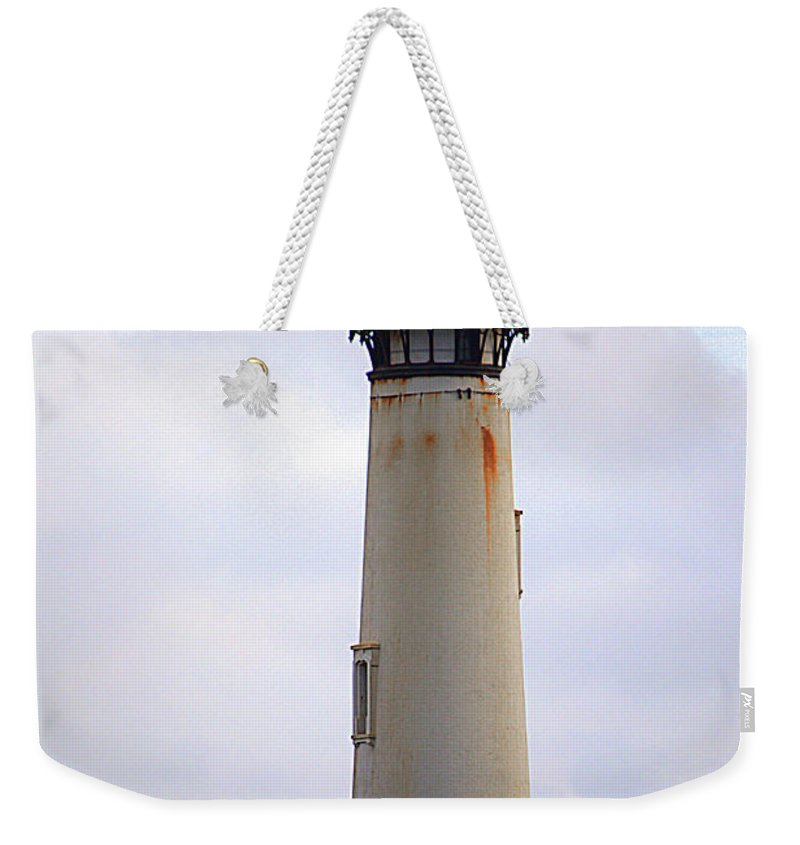 Pigeon Point Weekender Tote Bag featuring the photograph Pigeon Point Lighthouse by Yvette Wilson