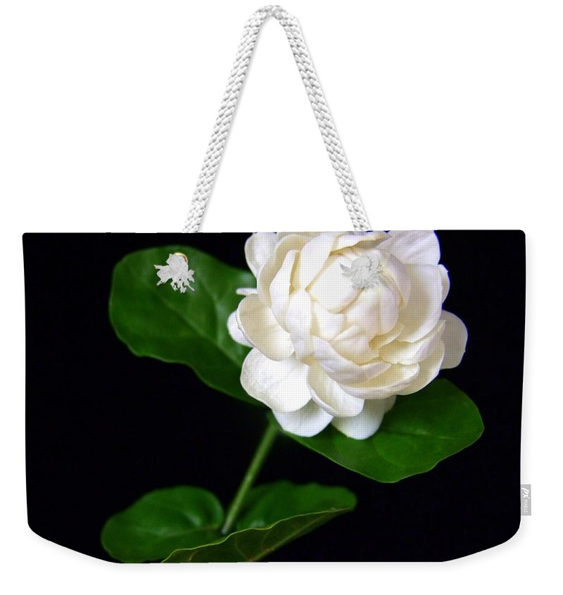 Flower Weekender Tote Bag featuring the photograph Pikake by Mary Deal