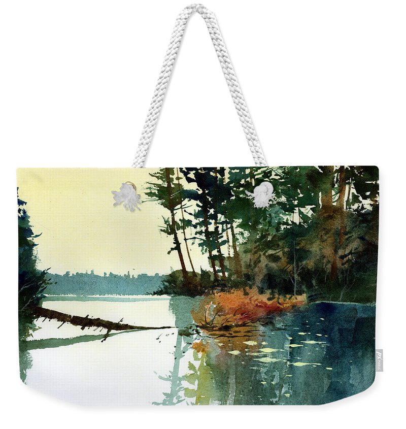Lakes Weekender Tote Bag featuring the painting Pike Alley by Lee Klingenberg