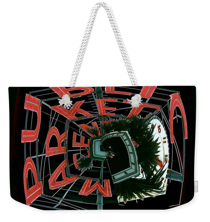 Seattle Weekender Tote Bag featuring the digital art Pike Place Market Entrance 3 by Tim Allen