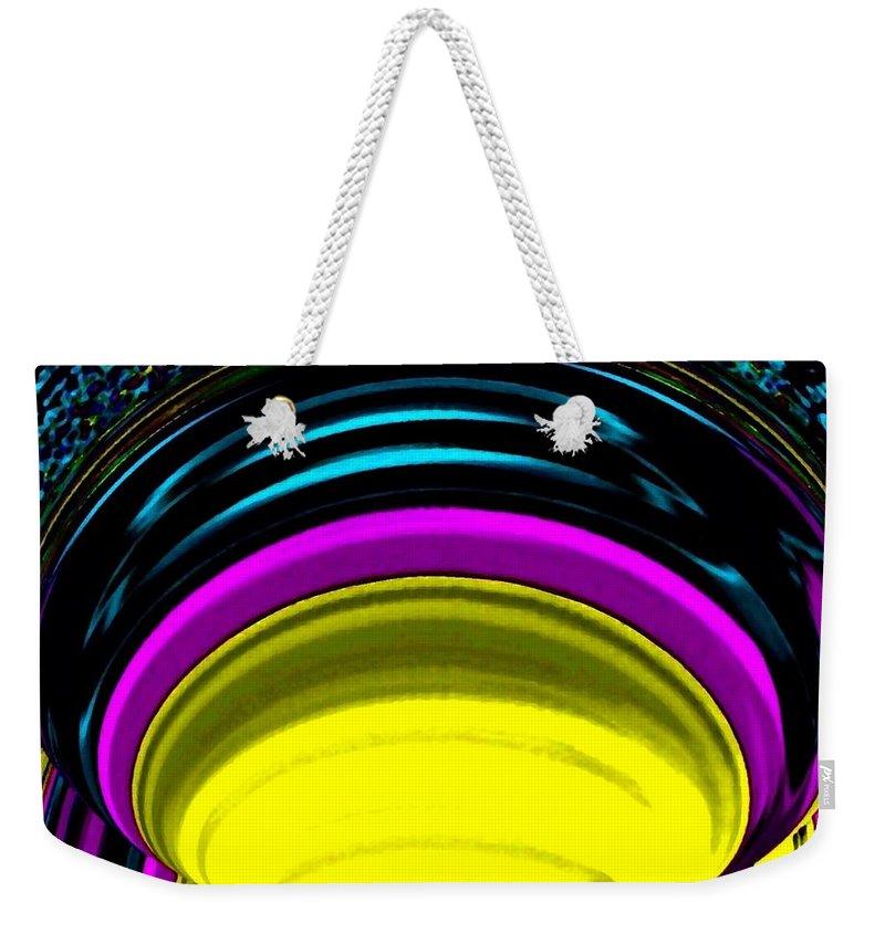 Light Weekender Tote Bag featuring the digital art Pillar Of Light by Will Borden