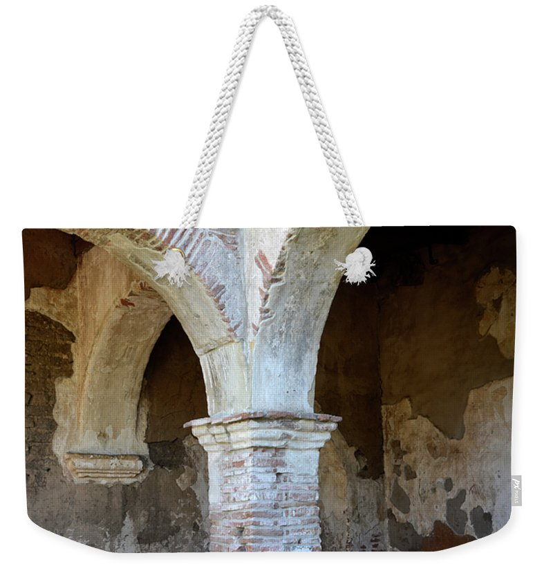 Architecture Weekender Tote Bag featuring the photograph Pillars by Bob Christopher