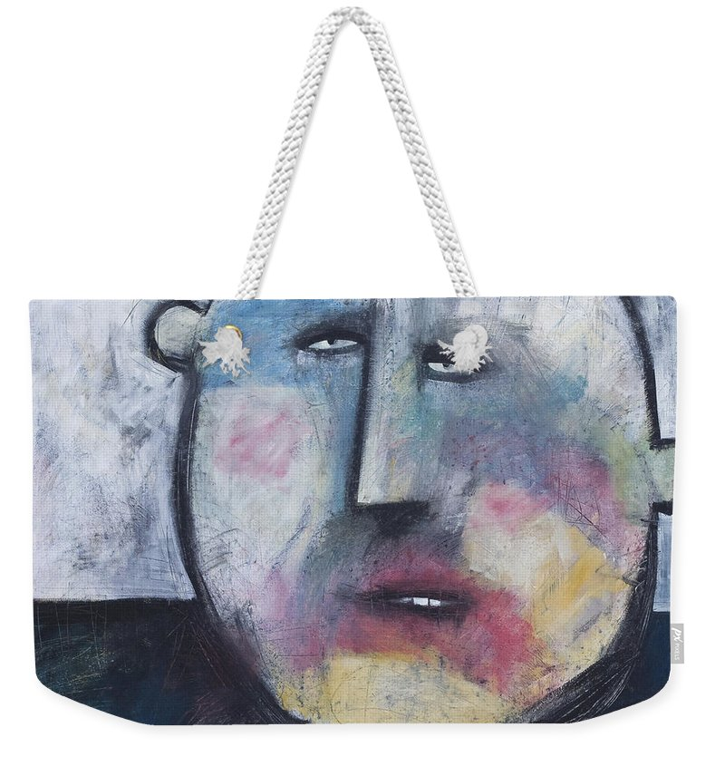 Funny Weekender Tote Bag featuring the painting Pillbox by Tim Nyberg