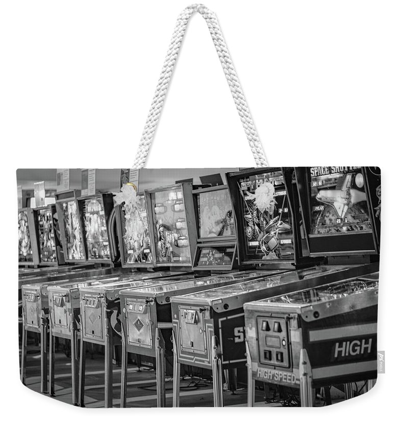 Pinball Weekender Tote Bag featuring the photograph Pinball by Christopher Bednarly