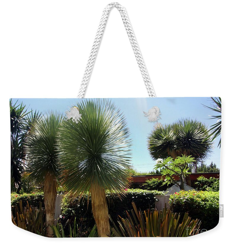 Pinball Weekender Tote Bag featuring the photograph Pinball Plants, Long-pin Plants by Sofia Metal Queen