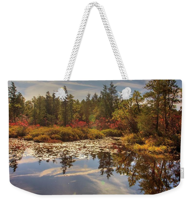 Recent Weekender Tote Bag featuring the photograph Pine Barrens New Jersey Whitesbog Nj by Geraldine Scull
