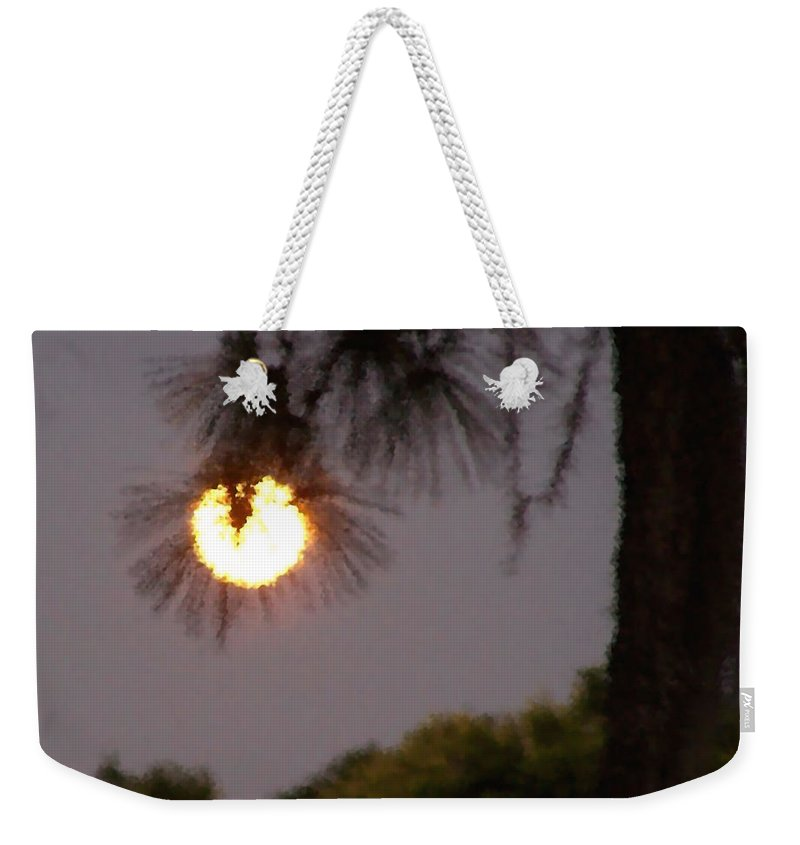 Nature Weekender Tote Bag featuring the photograph Pine Glow by Peg Urban