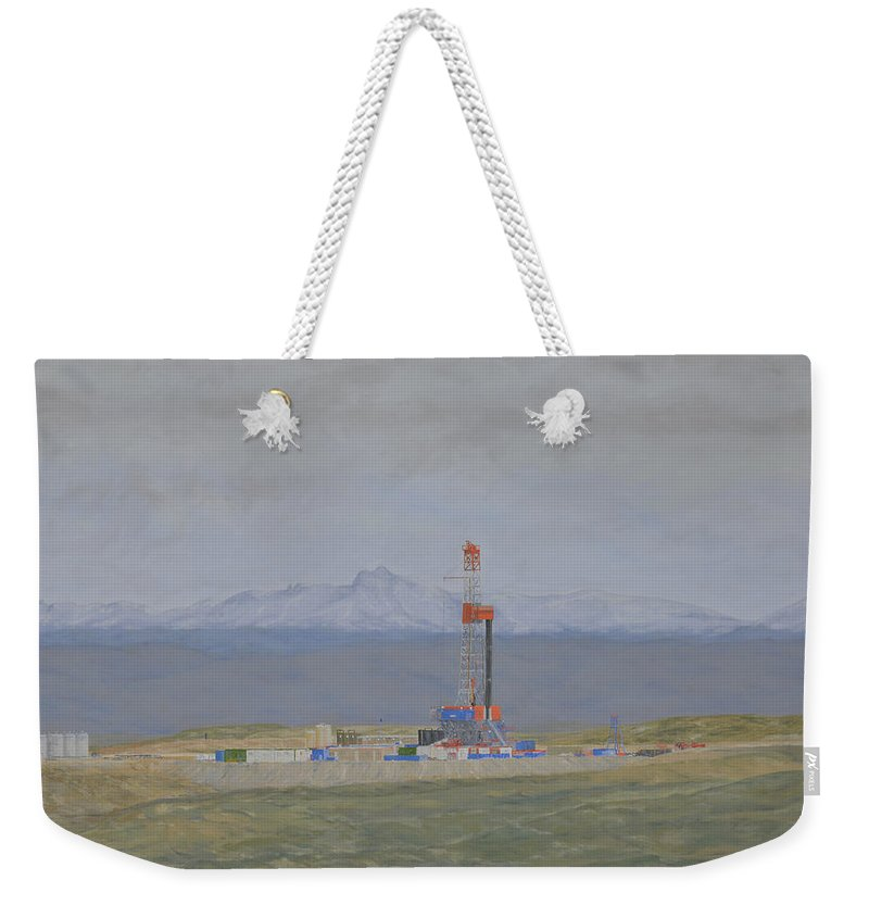 Patterson Rig 321 Weekender Tote Bag featuring the painting Patterson Rig 321 by Galen Cox