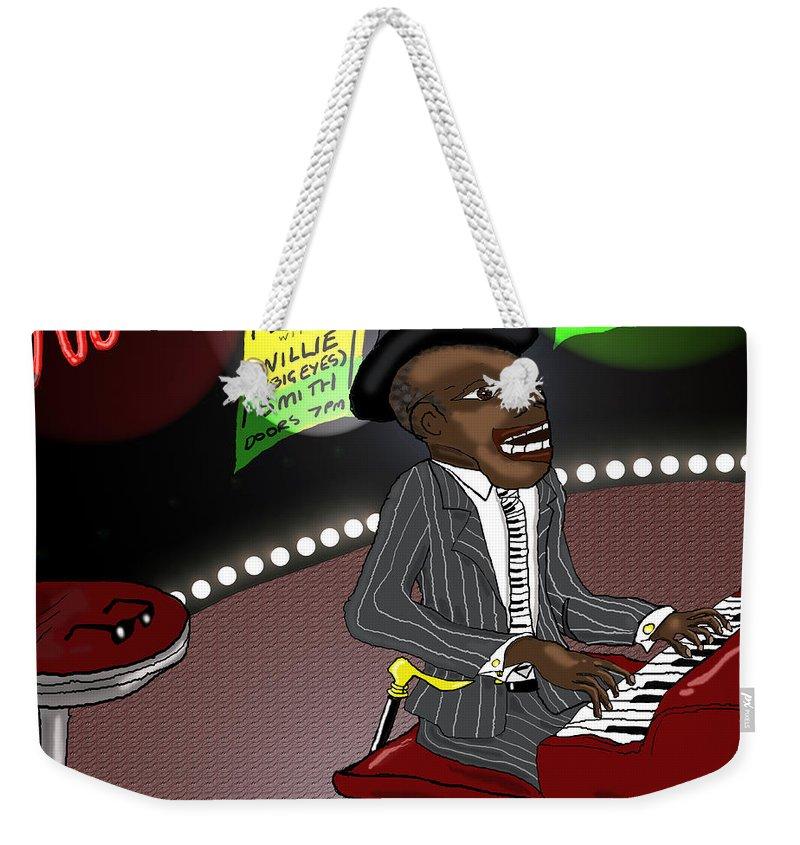 Musician Art Weekender Tote Bag featuring the digital art Pinetop Perkins by Kev Moore