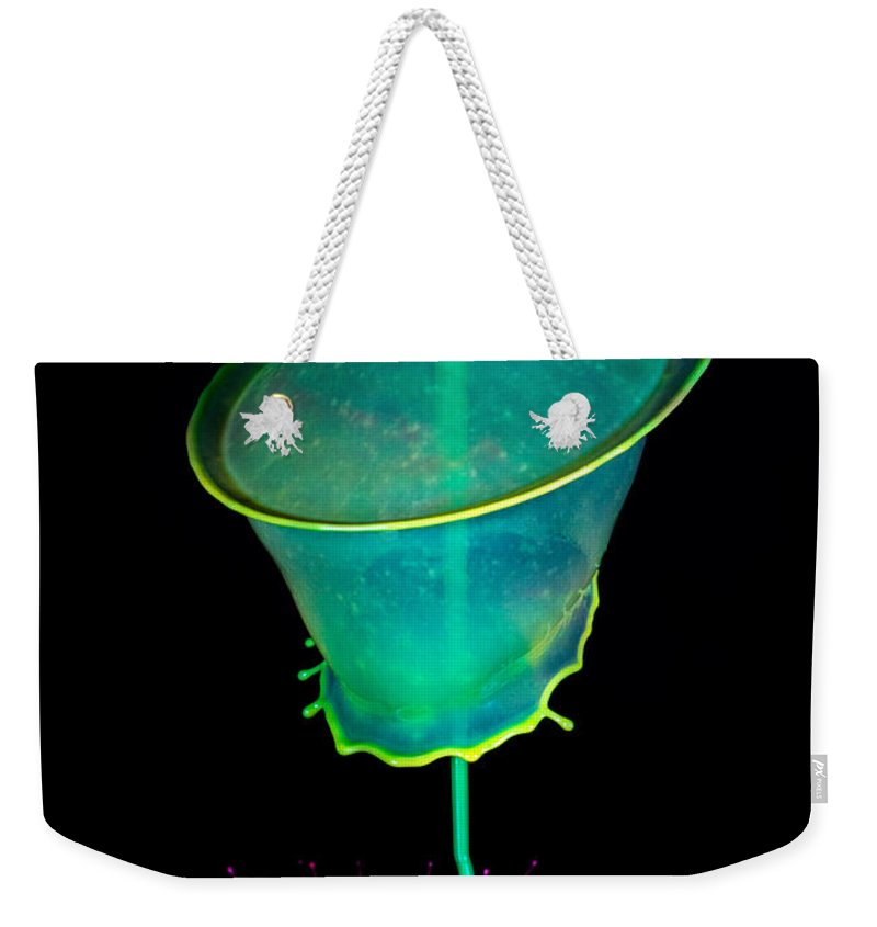 Water Weekender Tote Bag featuring the photograph Pink And Green Composition by Jaroslaw Blaminsky
