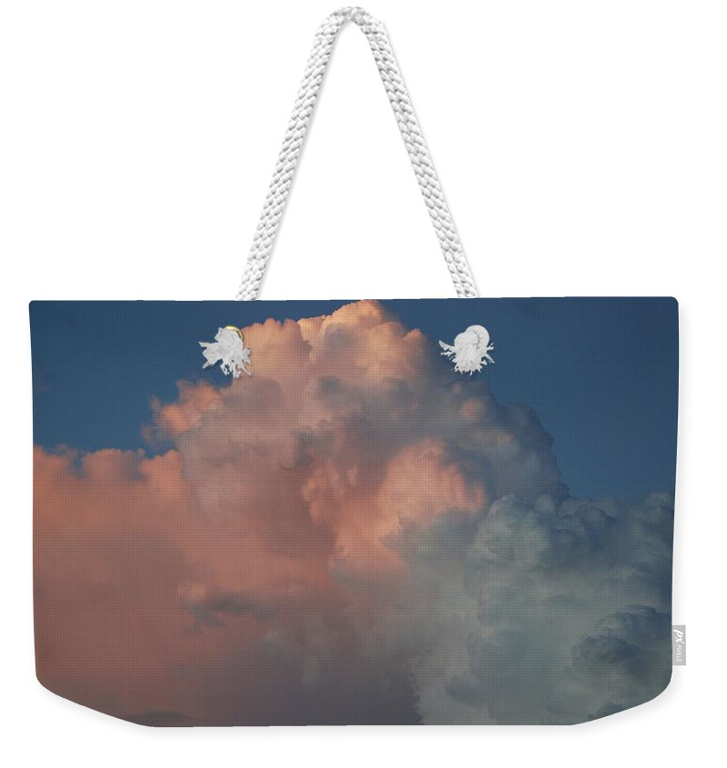 Clouds Weekender Tote Bag featuring the photograph Pink And Grey by Rob Hans