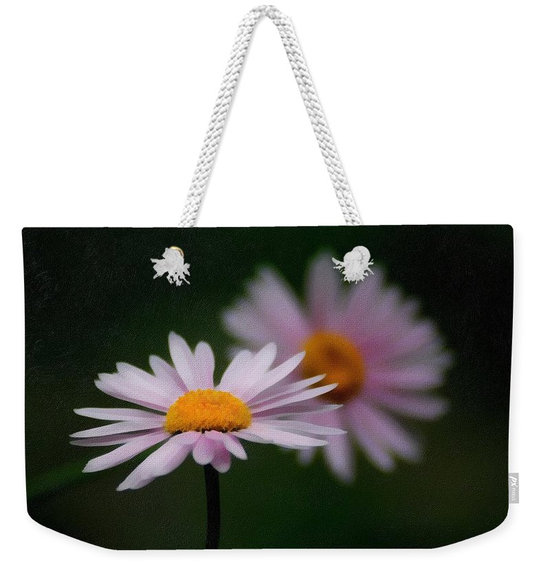 Photography Weekender Tote Bag featuring the mixed media Pink Beauty by Georgiana Romanovna