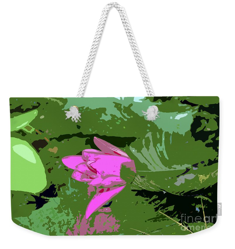 Beautiful Weekender Tote Bag featuring the photograph Pink Beauty Work Number 8 by David Lee Thompson