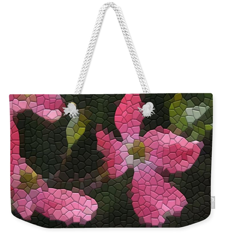 Dogwood Weekender Tote Bag featuring the photograph Pink Dogwoods by Kathryn Meyer