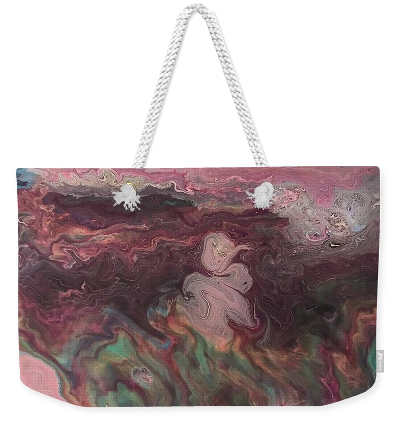 Acrylic Painting Weekender Tote Bag featuring the painting Pink Dream by A Billings