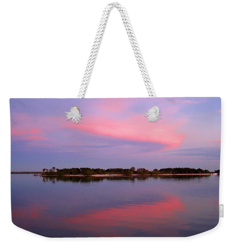 Sunset Weekender Tote Bag featuring the photograph Pink Evening by Susanne Van Hulst