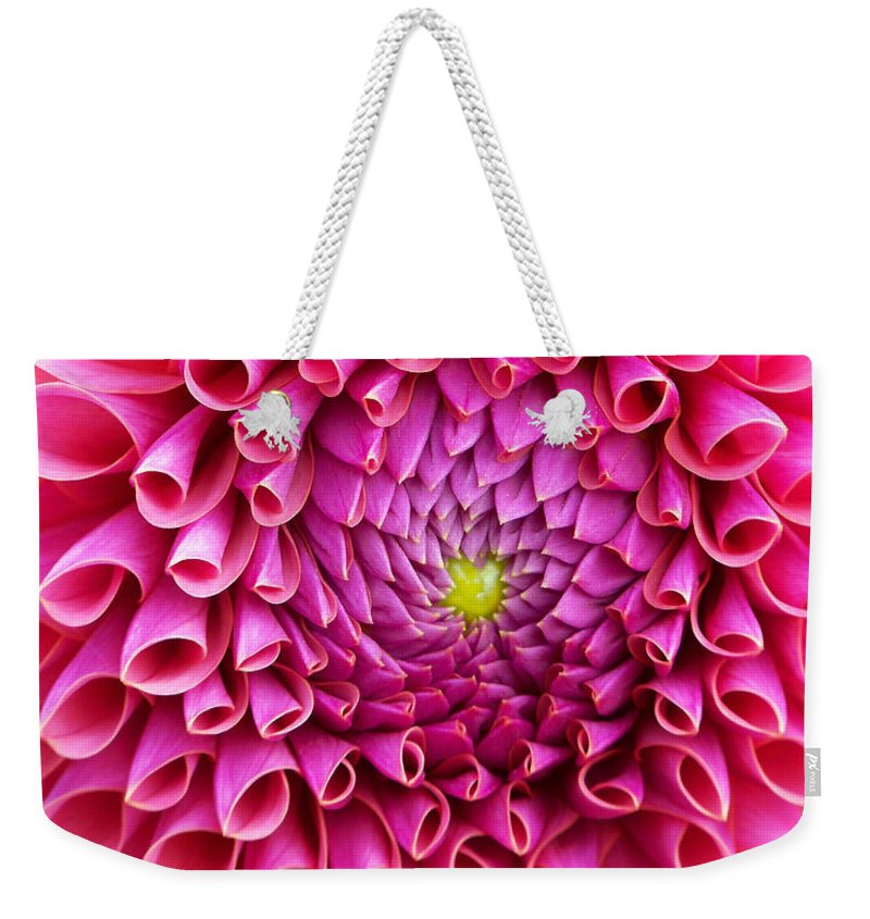Flower Weekender Tote Bag featuring the photograph Pink Flower Close Up by Anthony Jones