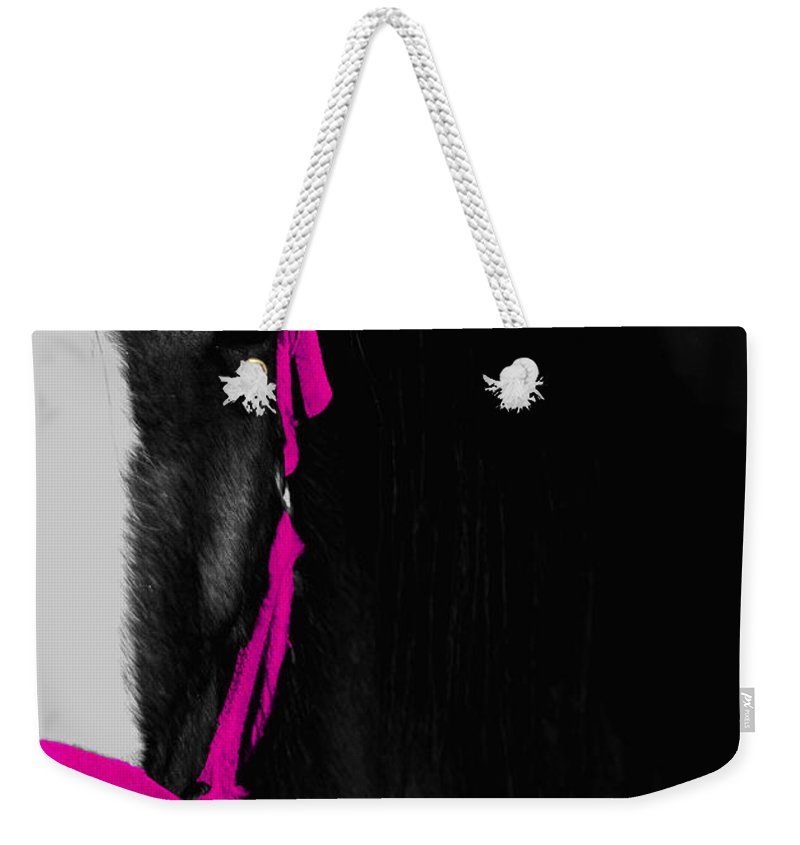 Pink Weekender Tote Bag featuring the photograph Pink Halter by Hannah Breidenbach