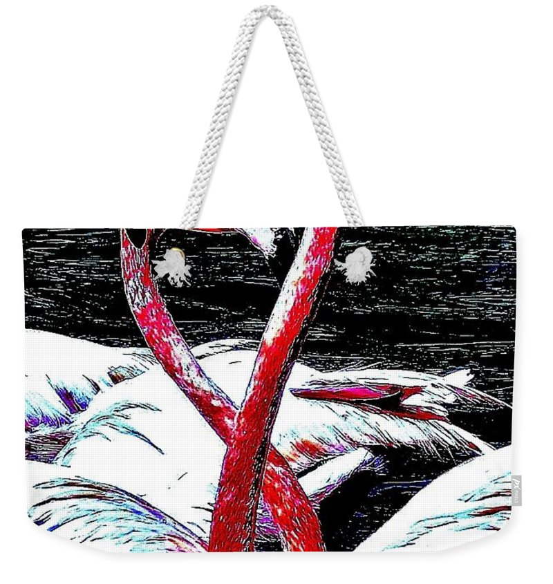 Florida Weekender Tote Bag featuring the photograph Pink Infinity Whimsical by Lisa Renee Ludlum